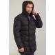 Куртка зимняя мужская Royal Spirit, модель Флобер с капюшоном на высокий рост