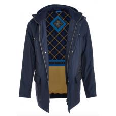 Куртка демисезонная мужская Royal Spirit, модель Гальяно синяя с капюшоном