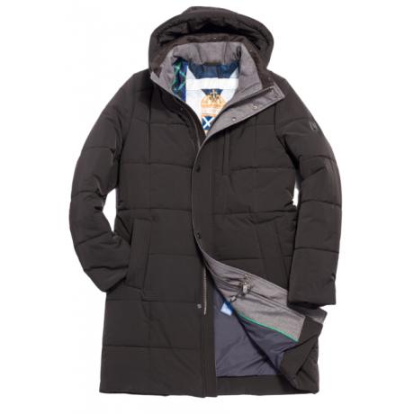 Куртка зимняя мужская Royal Spirit, модель Костелло черная с капюшоном
