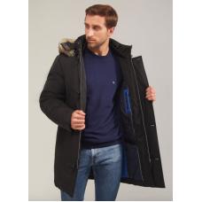 Куртка зимняя мужская Royal Spirit, модель Рише на современном утеплителе в черном цвете
