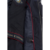 Ветровка весенняя мужская Royal Spirit с капюшоном, модель Лучано темно-синяя из хлопка