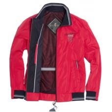 Ветровка весенняя мужская Royal Spirit, модель Саграда красная на резинке