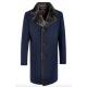 Пальто мужское Royal Spirit, модель Дюма синее меланжевое