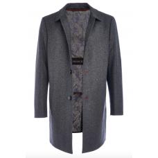 Пальто мужское Royal Spirit, модель Фауст серое с подстежкой