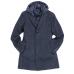 Пальто мужское Royal Spirit, модель Дефо синее в ёлочку, с отстегивающимся жилетом и капюшоном
