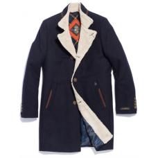 Пальто мужское Royal Spirit, модель Азимут синее