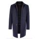 Пальто мужское Royal Spirit, модель Гете синее с подстежкой