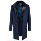 Пальто мужское Royal Spirit, модель Киплинг синее меланжевое