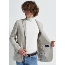 Пиджак мужской Royal Spirit, модель Ленс, летний, льняной, бежевый