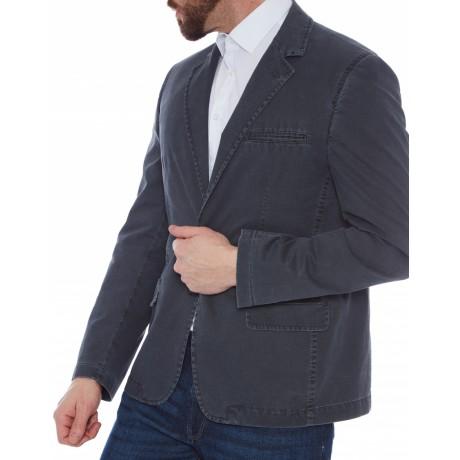 Пиджак W.Wegener модель Nelson 5-403/18 серый хлопковый