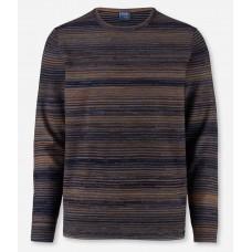 Джемпер мужской Olymp 53126511, меланжевый из шерсти и хлопка с круглым вырезом