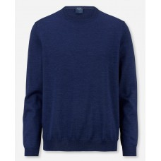 Пуловер мужской Olymp 01501115, синий шерстяной с круглым воротом