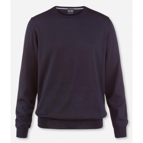 Пуловер мужской Olymp 01501118, темно-синий шерстяной