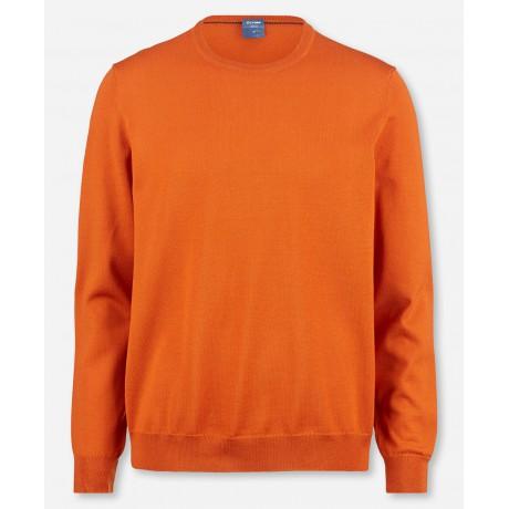 Пуловер мужской Olymp 01501191, оранжевый шерстяной с круглым воротом