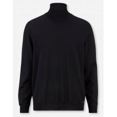 Свитер мужской Olymp 01501268, чёрный шерстяной с высоким воротом