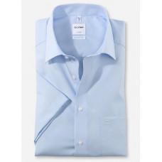 Рубашка мужская OLYMP Luxor Comfort fit, артикул 02541212 с коротким рукавом,голубая гладкая