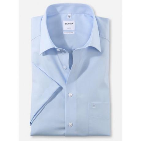 Рубашка мужская Olymp 02541212, Comfort fit с коротким рукавом,голубая гладкая