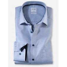 Рубашка мужская Olymp 10255411, Comfort fit, голубая фактурная меланжевая