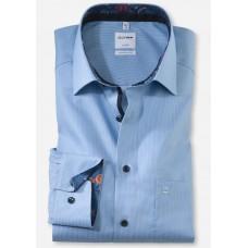 Рубашка мужская Olymp 10426411, Comfort fit, голубая фактурная