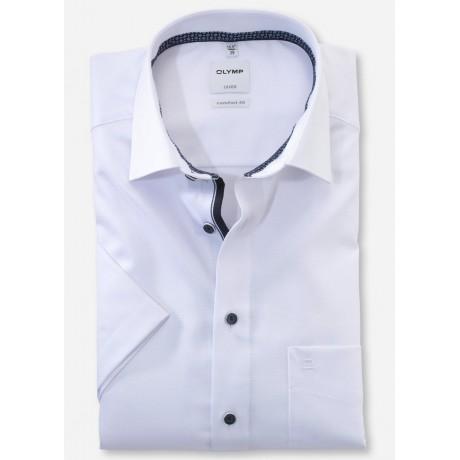 Рубашка мужская Olymp 10627200, Comfort fit с коротким рукавом,белая фактурная