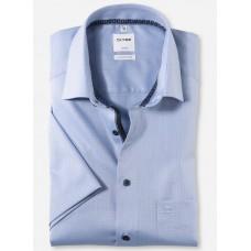 Рубашка мужская OLYMP Luxor Comfort fit, артикул 10627211 с коротким рукавом,голубая фактурная
