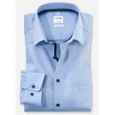 Рубашка мужская Olymp 10627411, Comfort fit, голубая фактурная