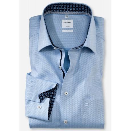 Рубашка мужская Olymp 10746411, Comfort fit, голубая фактурная