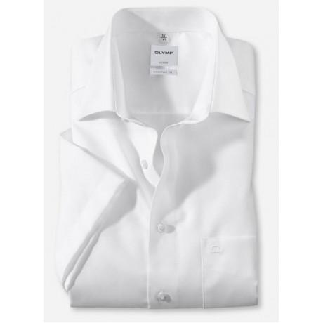 Рубашка мужская Olymp 11081200, Comfort fit с коротким рукавом,белая фактурная