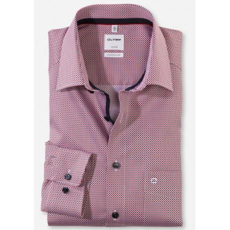 Рубашка мужская Olymp 11817435, Comfort fit, красная с графическим дизайном