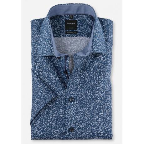 Рубашка мужская OLYMP Luxor Modern fit, артикул 12343219 синяя с цветочным принтом