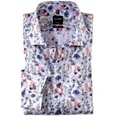 Рубашка мужская OLYMP Luxor Modern fit, артикул 12385435 светлая с цветочным принтом