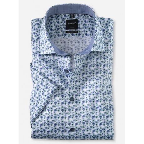 Рубашка мужская OLYMP Luxor Modern fit, артикул 12545245 светлая с цветочным принтом