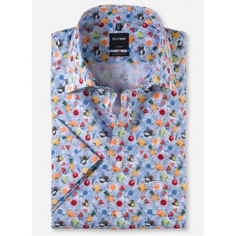 Рубашка мужская OLYMP Luxor Modern fit, артикул 13465211 светлая с фруктовым принтом