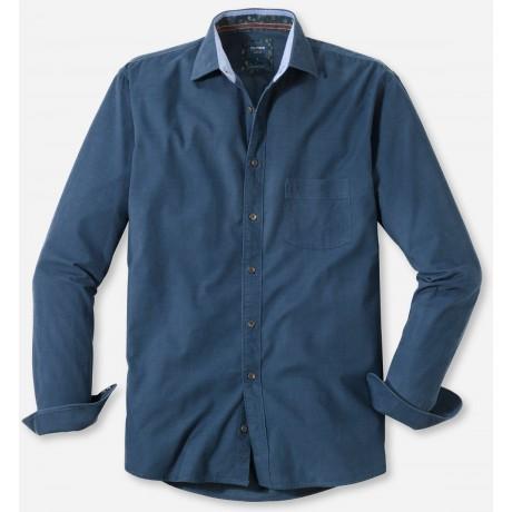 Рубашка мужская Olymp Casual 40366418, Modern fit, вельветовая синяя