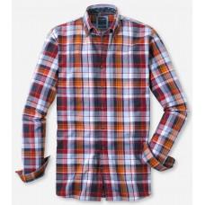 Рубашка мужская Olymp Casual 40446439, Modern fit, хлопковая в многоцветную клетку