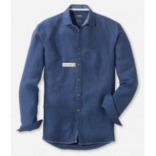 Рубашка мужская Olymp Casual 40765496, Modern fit, льняная синяя