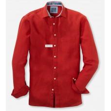 Рубашка мужская Olymp Casual 41187405, Modern fit, льняная красная