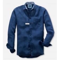 Рубашка мужская Olymp Casual 41187496, Modern fit, льняная синяя