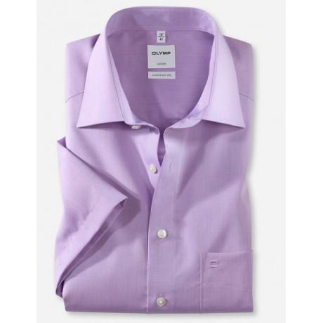 Рубашка мужская Olymp 51311271, Comfort fit с коротким рукавом, фиолетовая гладкая