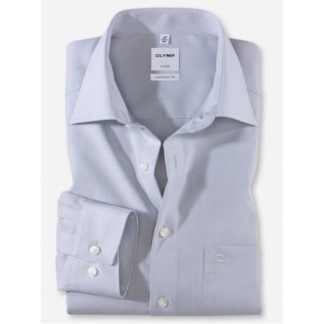 Рубашка мужская Olymp 51316463, Comfort fit, светло-серая гладкая