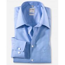 Рубашка мужская Olymp 02556415, Comfort fit, голубая гладкая