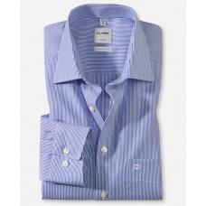 Рубашка мужская Olymp 02706415, Comfort fit, голубая в мелкую полоску