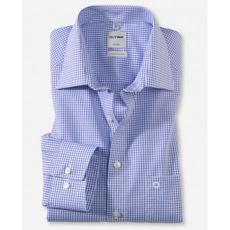 Рубашка мужская Olymp 02746415, Comfort fit, в синюю клеточку
