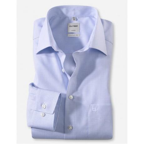 Рубашка мужская Olymp 02826411, Comfort fit, в мелкую голубую клеточку