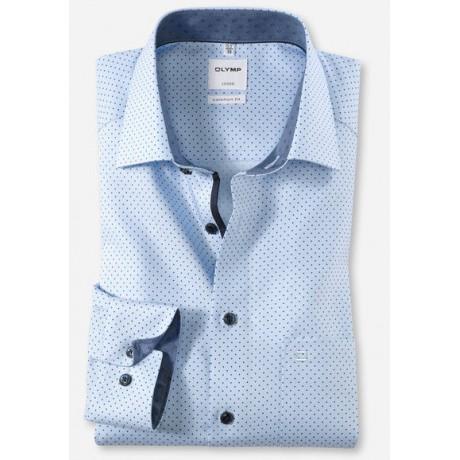 Рубашка мужская Olymp 10174411, Comfort fit, голубая в точку