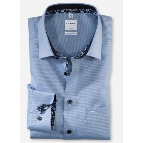 Рубашка мужская Olymp 10254411, Comfort fit, голубая фактурная