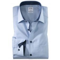 Рубашка мужская Olymp 10685411, Comfort fit, голубая фактурная