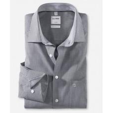 Рубашка мужская Olymp 31906468, Comfort fit, серая в мелкую клеточку