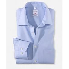 Рубашка мужская Olymp 51316411, Comfort fit, голубая гладкая