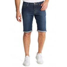 Шорты Double-U, модель B-Sundowner, артикул 5805/18 синего цвета из джинсы